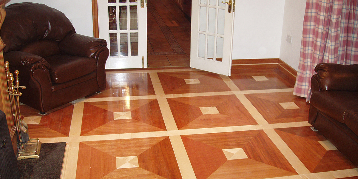Cross-grain Wood Floor Pattern